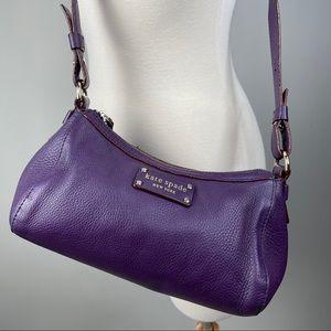 Kate Spade New York purple leather shoulder bag